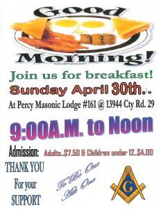 Good Morning Breakfast: Hosted by Percy Masonic Lodge @ Percy Masonic Lodge #161 | Ontario | Canada
