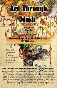 Art Through Music Fundraiser for ArtWorth Camp Bursaries @ Warkworth Centre for the Arts | Ontario | Canada