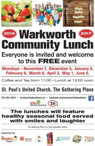 Warkworth Community Lunch @ The Gathering Place - St. Paul's United Church | Ontario | Canada