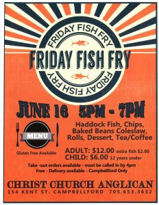 Friday Fish Fry @ Christ Church Anglican | Campbellford | Ontario | Canada
