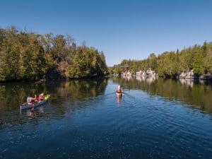 Paddling the Trent Severn Waterway, Campbellford, Hastings, Trent Hills, Northumberland County, Ontario
