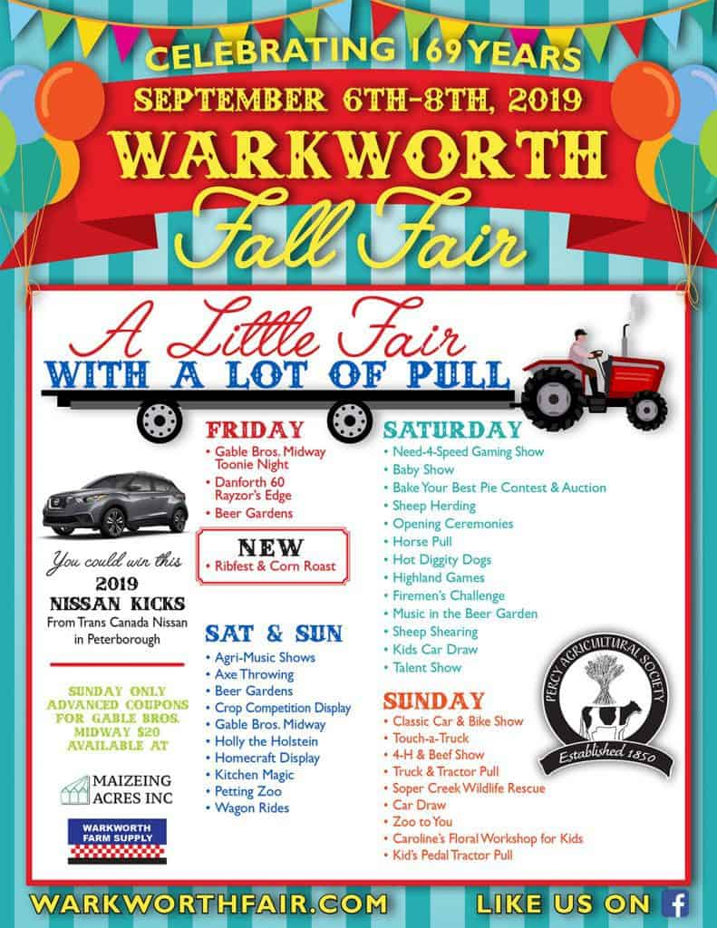 Events taking place at the Warkworth Fair September 2019