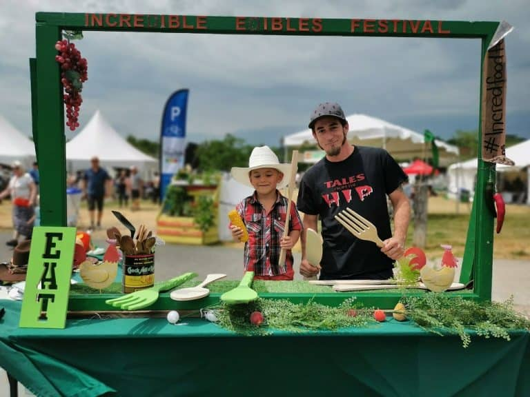 Taking food photos at Incredible Edible Festival in Campbellford Ontario