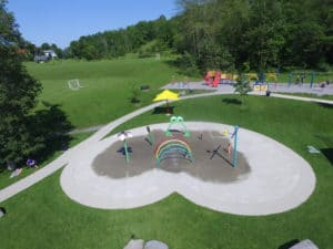 Campbellford Splash Pad in Kennedy Park in Trent Hills Ontario