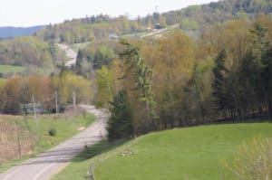 Road through the Trent Hills in Ontario